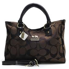 Coach Legacy In Signature Large Coffee Satchels ACD