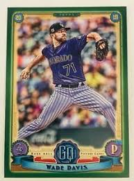2019 Topps Gypsy Queen Green Parallel Wade Davis Retail Exclusive ROCKIES  #135 | eBay
