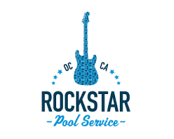 pool service logo. Rockstar Pool Service Logo 02