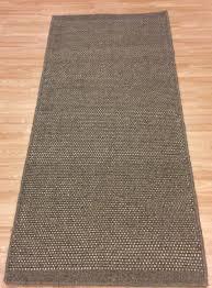 beige mink handwoven modern wool dhurrie runner kilim rug large 80x200cm 60 off