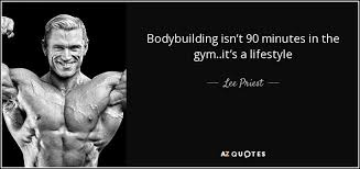 Bodybuilding Motivational Quotes Mesmerizing QUOTES BY LEE PRIEST AZ Quotes