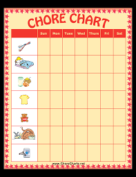 Weekly Chore Chart Template For Kids Weekly Chore Chart For Kids Templates At