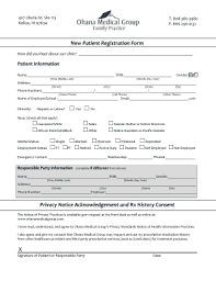 medical patient registration form editable new patient registration form medical fill out print