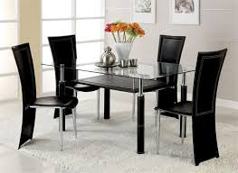 7 black glass dining room table and chairs nice glass dining room table set contemporary sets