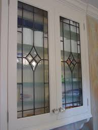 kitchen cabinet inserts leaded glass door