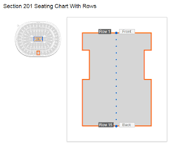 How Many Rows Are There In Section 201 At Wells Fargo Center