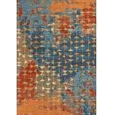 blue orange rug area gray outdoor