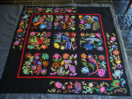 Addicted To Quilts: Birds of Paradise Quilt & Lesley's appliqué is the highlight of this quilt and we wanted to keep my  quilting unobtrusive to make the appliqué shine and pop. Adamdwight.com