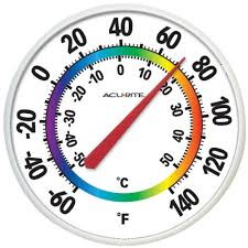 indoor outdoor thermometer large easy