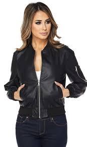 black faux leather er jacket size guide