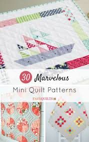 Mini Quilt Patterns Interesting 48 Marvelous Mini Quilt Patterns FaveQuilts