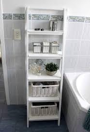 diy small bathroom storage ideas. Diy Small Bathroom Storage Ideas Near Built In Bathtub With Grey Floor Tiles