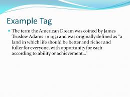 personal essay ppt video online  6 example tag the term the american dream