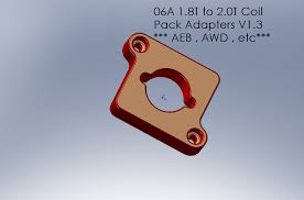 another aeb 2 0t fsi coil upgrade angle if your harness length allows and use the ina plates or you could cut file off the key on the coil to allow a pack to be inserted at any angle