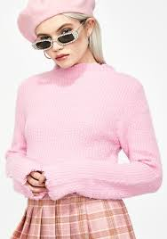 Fuzzy Light Pink Sweater More Than Life Fuzzy Sweater