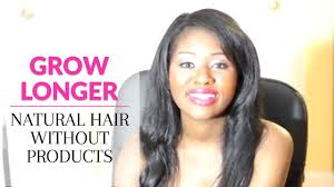 Grow Longer Natural Hair Without Products Fast And Easy Youtube