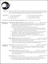 Fair Human Resources Job Resume Objective On Hr Objectives