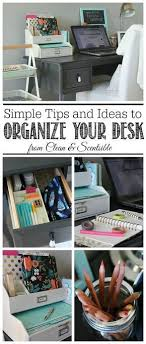 home office simple neat. I Love These Simple Organization Ideas To Keep Your Desk Neat And Organized! | Home Office Pinterest Ideas, Organizations A
