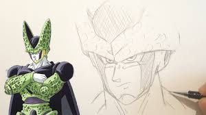 Comment Dessiner Cell Croquis Rapide Dragon Ball Z Youtube