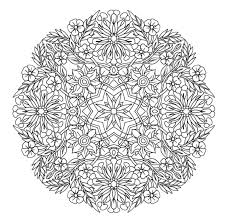 Flower Coloring Pages Mandala With Word Printabul Photo Album
