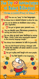 best bilingual kids images bilingual education  infographic the top 10 advantages of being bilingual from a child s point of view