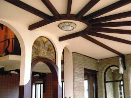 Small Picture 14 gypsum false ceiling design with wooden decorations for living