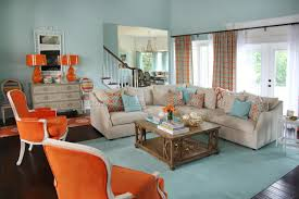 Orange Curtains Living Room Aqua Curtains For Living Room