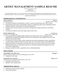 fashion resume samples - Music Industry Resume Sample