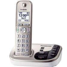 panasonic kx tgd220n dect 6 0 plus expandable digital cordless phone system with talking caller id
