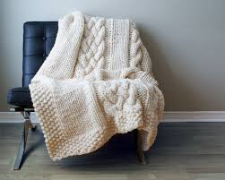 Cable Knit Blanket Pattern Interesting Decorating Design