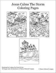 Small Picture Jesus Calms The Storm Coloring Pages Crafting The Word Of God