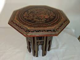 Middle eastern style furniture Indian Traditional Octagonal Handpainted Oriental Middle Eastern 12 Furniture Ideas Middle Eastern Furniture Ebay