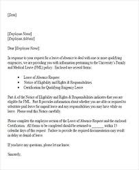 42 Leave Letter Samples Pdf Word Apple Pages Sample Templates