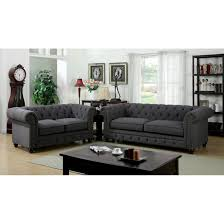 furniture entranching tufted leather sofa for living room