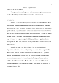 Diffusion And Osmosis Lab Report Osmosis Egg Lab Report