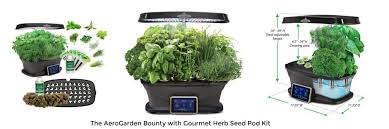 detail of the aerogarden bounty herb kit
