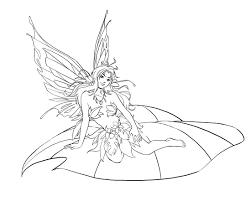 Adult Fairy Coloring Page Getcoloringpagescom