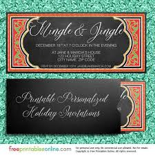 Printable Holiday Party Invitations Mingle Jingle Printable Holiday Party Invitations Free