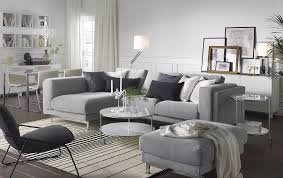 light living room furniture. A Light Living Room Furnished With Gray Two-seat Sofa Combined Furniture Ikea