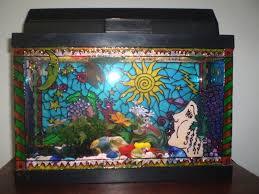 diy painted aquarium decor