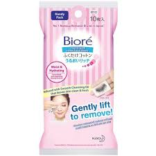 biore biore cleansing oil cotton sheets handy pack 10s make up remover skincare