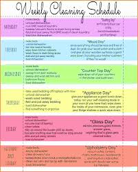 weekly house cleaning schedule printable pages daily house cleaning schedule calendar calendar
