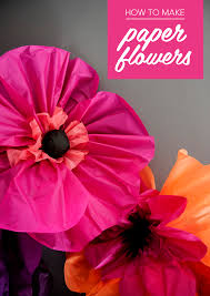 How To Make The Paper Flower Giant Poppies How To Make Paper Flowers Mollie Makes