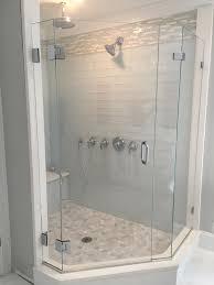 angled shower door