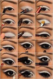 opaque white eyeshadow is something that we left behind in the 1960s but if you can find a modern one this would make a great evening look