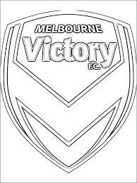 Melbourne Victory Logo Kleurplaat Gratis Kleurplaten