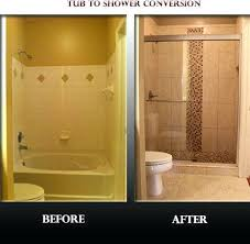 tub to shower conversion spaces contemporary with convert tub to bath to shower conversion bath to