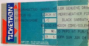 Black Sabbath Columbia Md 6 4 89 Ticket Stub At Amazons