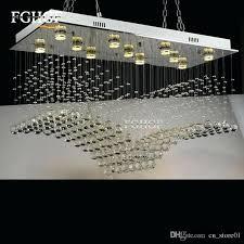 flush mount chandelier lighting rectangular