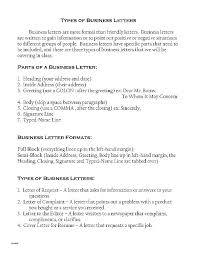 Types Of Formal Letter Format Business And Examples 9 Basic – Handtype